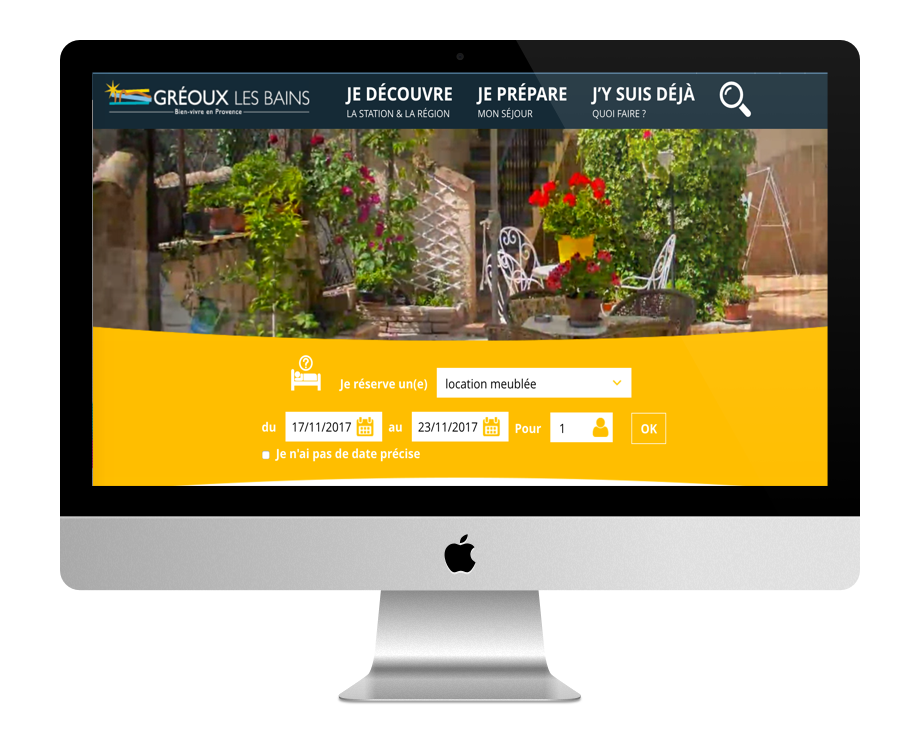 Site WordPress Gréoux-les-Bains