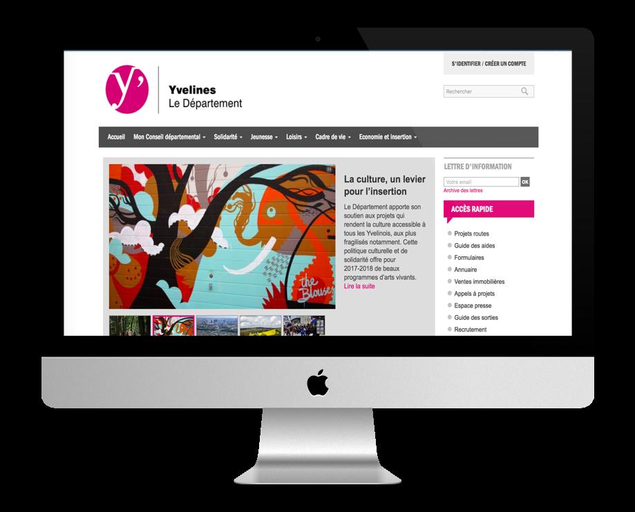 Site WordPress Conseil Départemental des Yvelines