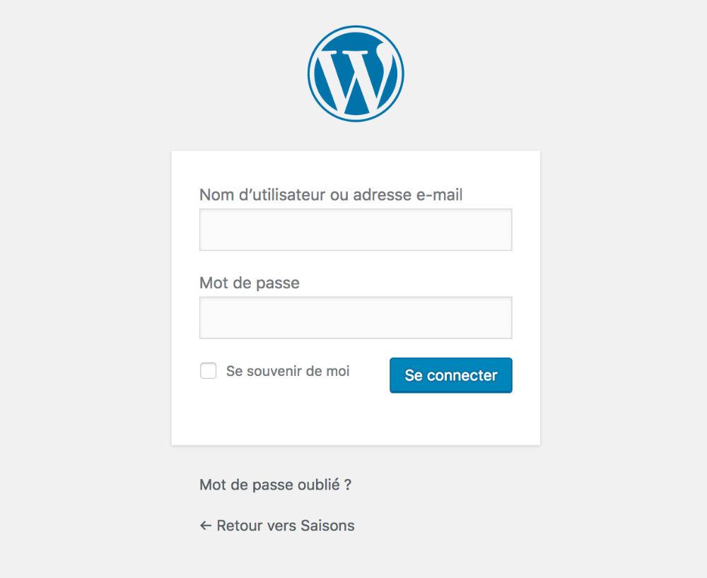 Protéger la page de connexion WordPress